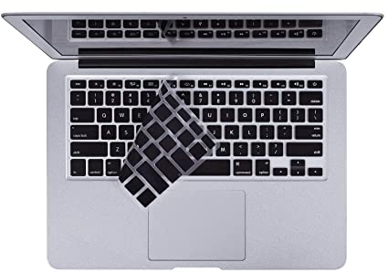 finest selection 5da34 b1552 for MacBook Keyboard Cover for MacBook Air 13 Inch & MacBook Pro 13 Inch,  15 Inch(with or Without Retina Display, 2015 or Older Version), Black