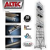 """ALTEC Rollfix 1000, hauteur de travail de 10 m, neuf, échafaudage roulant, homologué par le TÜV """"Fabriqué en Allemagne"""", aluminium échafaudage, échafaudages en aluminium, échafaudage roulant, échafaudage de salle, plate-forme de travail"""