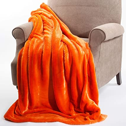 Prime Amazon Com 50X60 Burnt Orange Fauxfur Throw Blanket Plain Machost Co Dining Chair Design Ideas Machostcouk