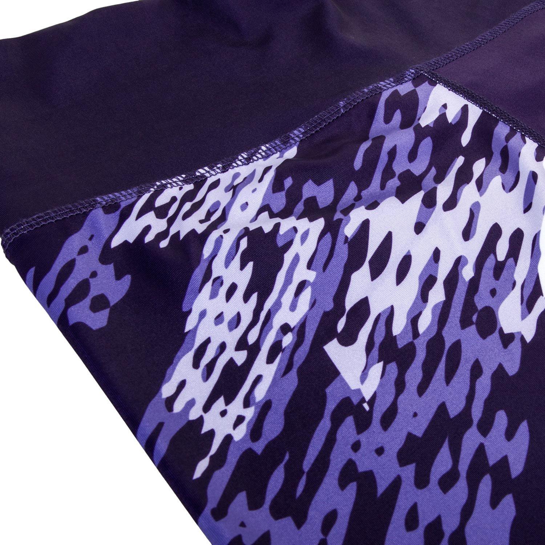 Dark Purple Venum Womens Neo Camo Wide Waistband Active Leggings
