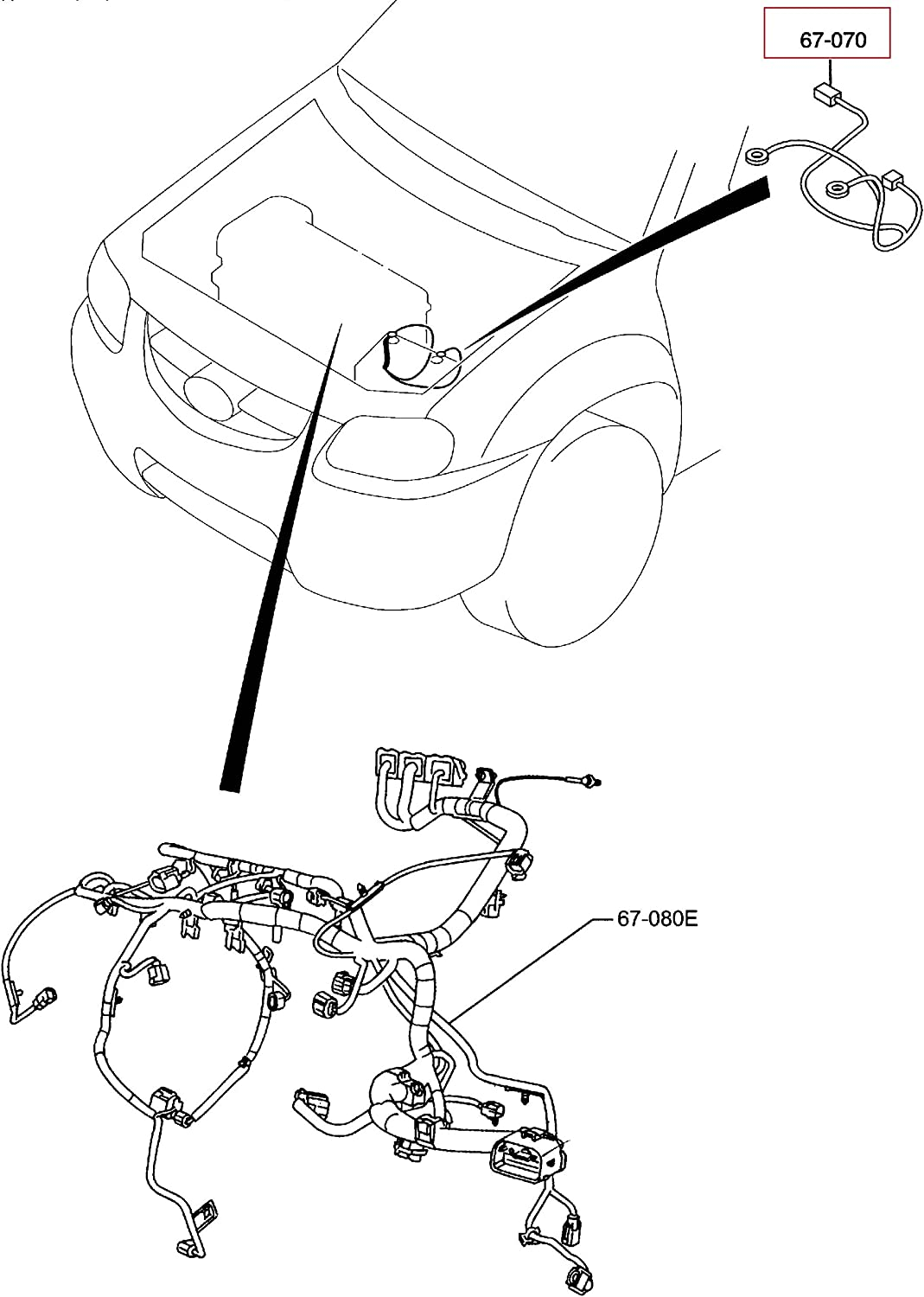 [DIAGRAM_38ZD]  Amazon.com: Genuine Mazda Tribute Engine Harness, Positive Battery Cable  ZZC0-67-070 (2008 - 2011): Automotive | Mazda Tribute Engine Diagram |  | Amazon.com