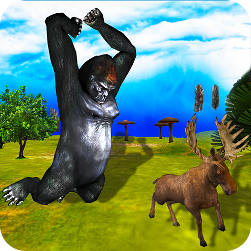 Wild Gorilla Simulator Ultimate 3D- Deadly Angry Beast Jungle Attack (Jungle River)