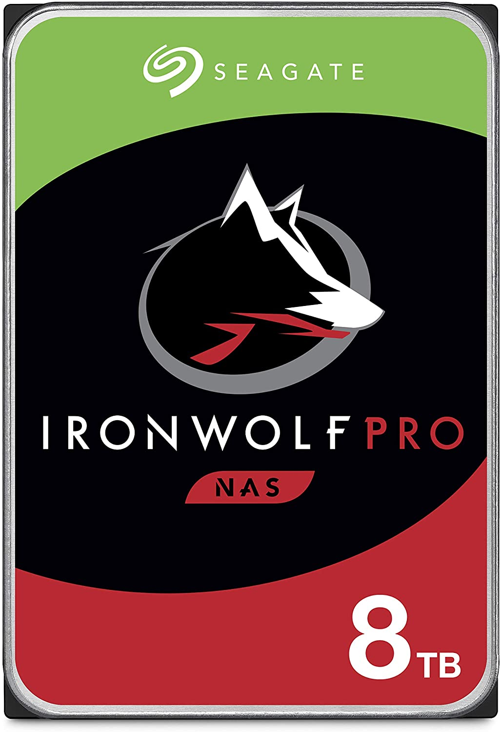 Seagate IronWolf Pro 8TB NAS Internal Hard Drive HDD – CMR 3.5 Inch SATA 6Gb/s 7200 RPM 256MB Cache for RAID Network Attached Storage, Data Recovery Service – Frustration Free Packaging (ST8000NE001)