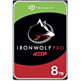 Seagate 8TB IronWolf Pro 7200RPM SATA 6Gb/s 256MB Cache 3.5-Inch NAS Hard Disk Drive - Frustration Free Packaging (ST8000NE0004)