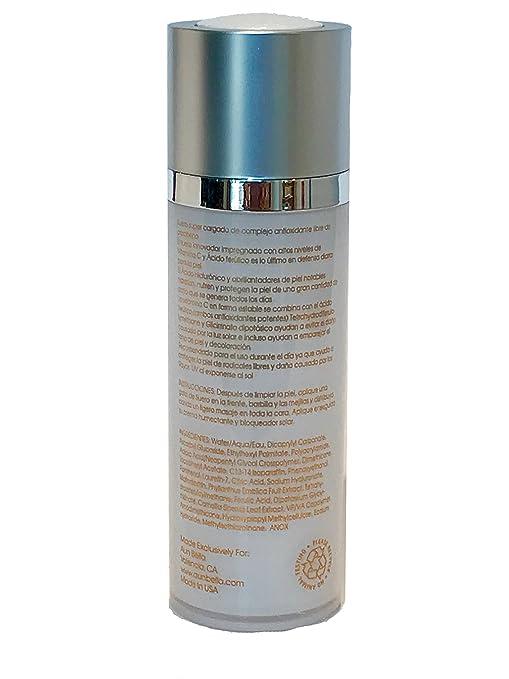 Amazon.com: Aun Bella Antioxidant Serum Best Anti-aging Serum w/Vitamin C, Ferulic Acid & Hyaluronic Acid - Suero Antioxidante Aún Bella con Vitamina C, ...