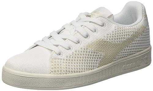 Diadora Game Weave Sneaker a Collo Basso Uomo Bianco 36.5 EU 4 UK