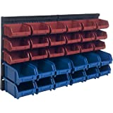 Storage Drawers-30 Compartment Wall Mount Organizer Bins- Easy Access Compartments for Hardware, Nails, Screws, Beads…