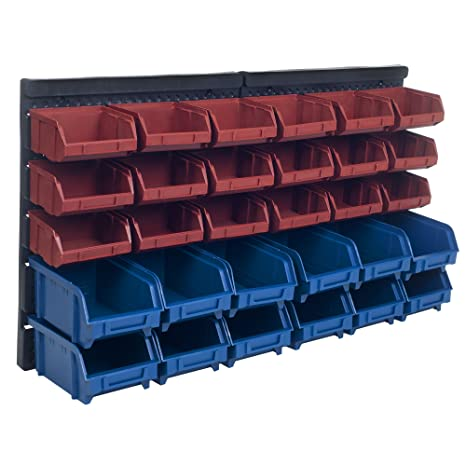 Storage Drawers 30 Compartment Wall Mount Organizer Bins  Easy Access  Compartments For Hardware,