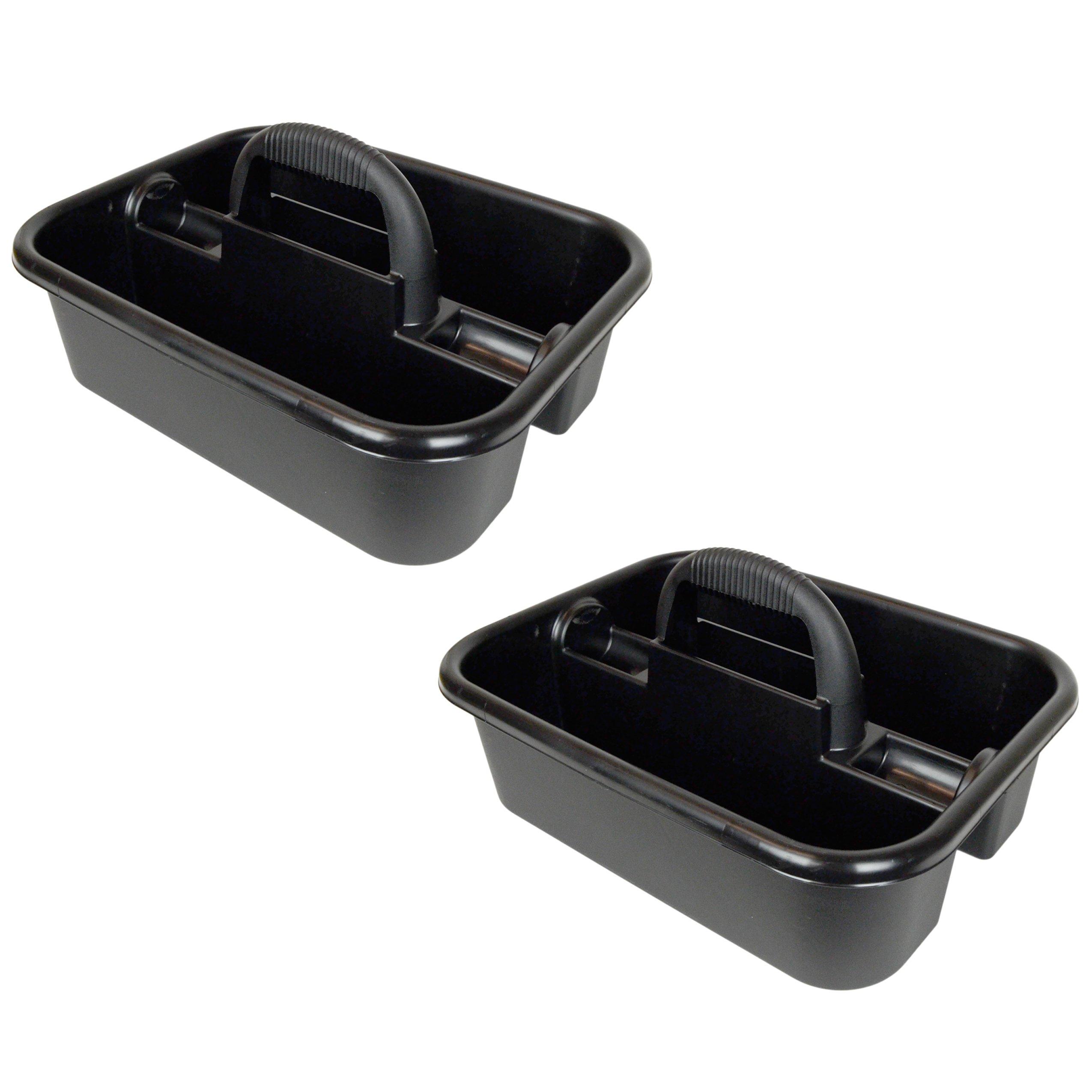 Akro-Mils 74-183 Black Plastic Tool Tote Caddy (2-Pack)