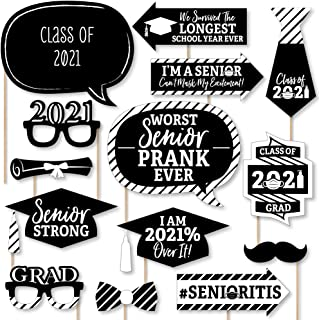 product image for Big Dot of Happiness Senior Strong - Class of 2021 Graduation Party Photo Booth Props Kit - 20 Count