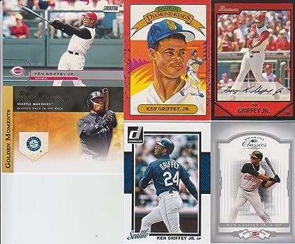 eb22d218c3 Image Unavailable. Image not available for. Color: Ken Griffey Jr. 6 Card  Lot ...