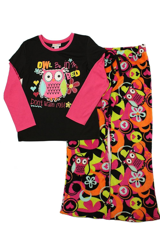"""Tweenklz Big Girls' """"Owl"""" 2 Piece Pajama set"""