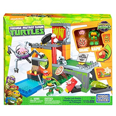 Mega Bloks Teenage Mutant Ninja Turtles Half-Shell Heroes Turtle Lair Battle: Toys & Games