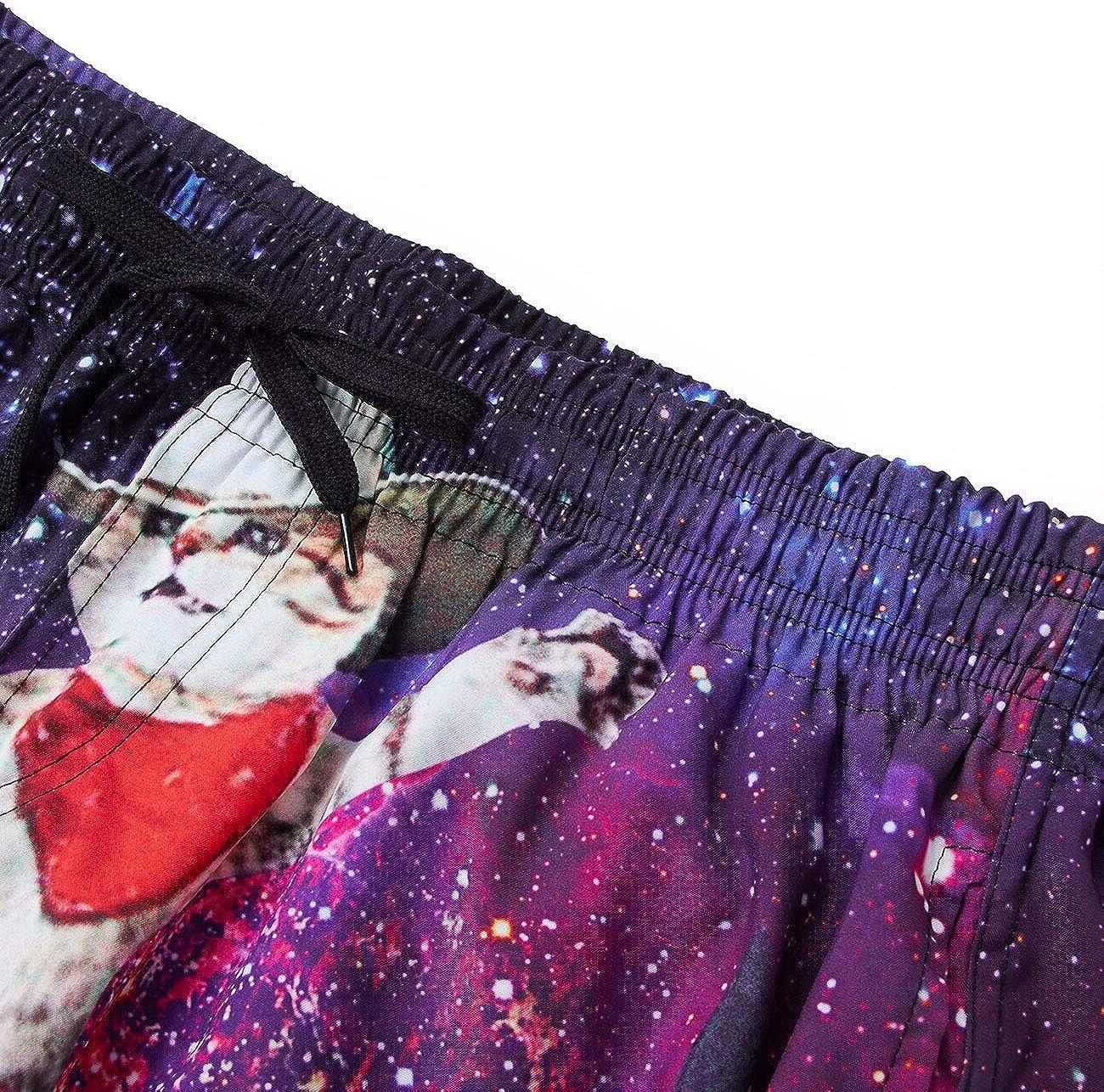 Rave on Friday Costumi da Bagno Uomo 3D Stampato Estate Pantaloncini e Calzoncini Asciugatura Veloce Tronchi Spiaggia S-XXL