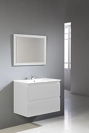 Modulintel - Conjunto De Baño Metropolis 80 Cm Blanco - Muebles ...