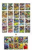 20 carte Pokemon serie Gold Mega EX Cards: drago blu/drago rosso, Rayquaza, Gengar, Lucario, Mega EX (set con 10carte speciali rare EX Cards)
