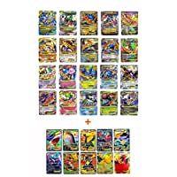 Pokemon Ex 20 Cards Gold Series All Mega: Blue Dragon/ Red Dragon, Rayquaza, Gengar, Lucario all MEGA EX (Set with 10 Special Rare EX Cards)