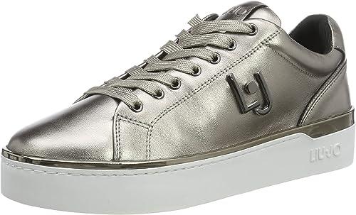 Liu Jo Jeans Silvia 01 Sneaker Metallic Pewter, Scarpe da