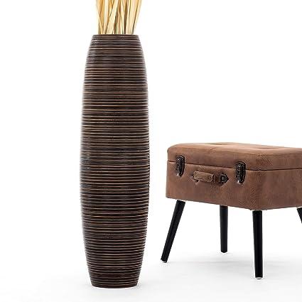 Leewadee Tall Big Floor Standing Vase For Home Decor 10x36 Inches Wood Brown Amazonca Kitchen