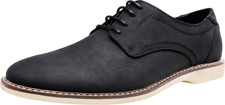 JOUSEN Mens Dress Shoes Retro Plain Toe