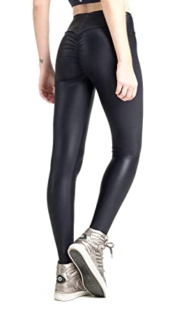 Vestem Brazilian Workout Legging - Ruched Booty Up Shiny Black at ... d78663ac271b