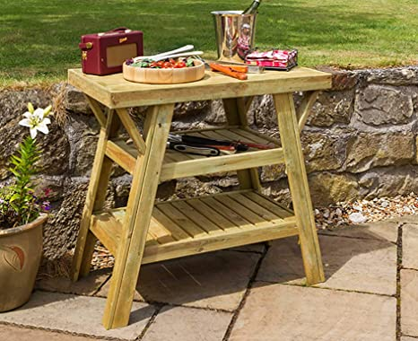 Outdoor Bbq Side Table.Zest4leisure 91cm Bbq Side Table Fsc Certified Pressure