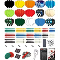 Red Dragon 200 Piece Darts Accessory Pack with Flights, Stems, Rings, Sharpener, Springs, Savers, Protectors and Accessories