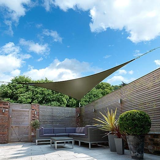 Kookaburra Toldo Vela de Sombra Para Jardín - Impermeable - 3m Triangular Verde Oscuro: Amazon.es: Jardín
