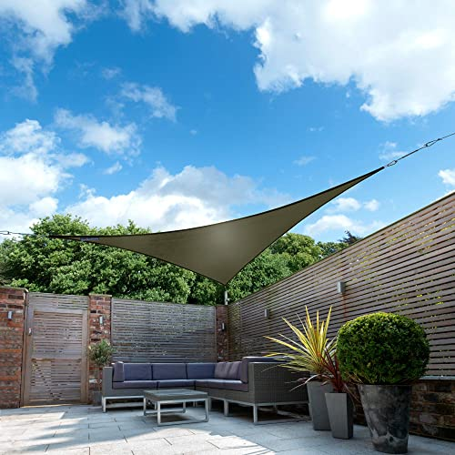 Kookaburra Waterproof Sun Sail Shade Sage – 11ft 10 Triangular