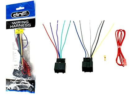 Amazon.com: DNF Aftermarket Wiring Harness Sterero Adapter ... on civic wiring harness, wrangler wiring harness, m37 wiring harness, ford truck wiring harness, crown victoria wiring harness, corvette wiring harness, f150 wiring harness, gmc truck wiring harness, s10 wiring harness, 4runner wiring harness, camaro wiring harness, tahoe wiring harness, mustang wiring harness, h3 wiring harness, astro van wiring harness, gto wiring harness,