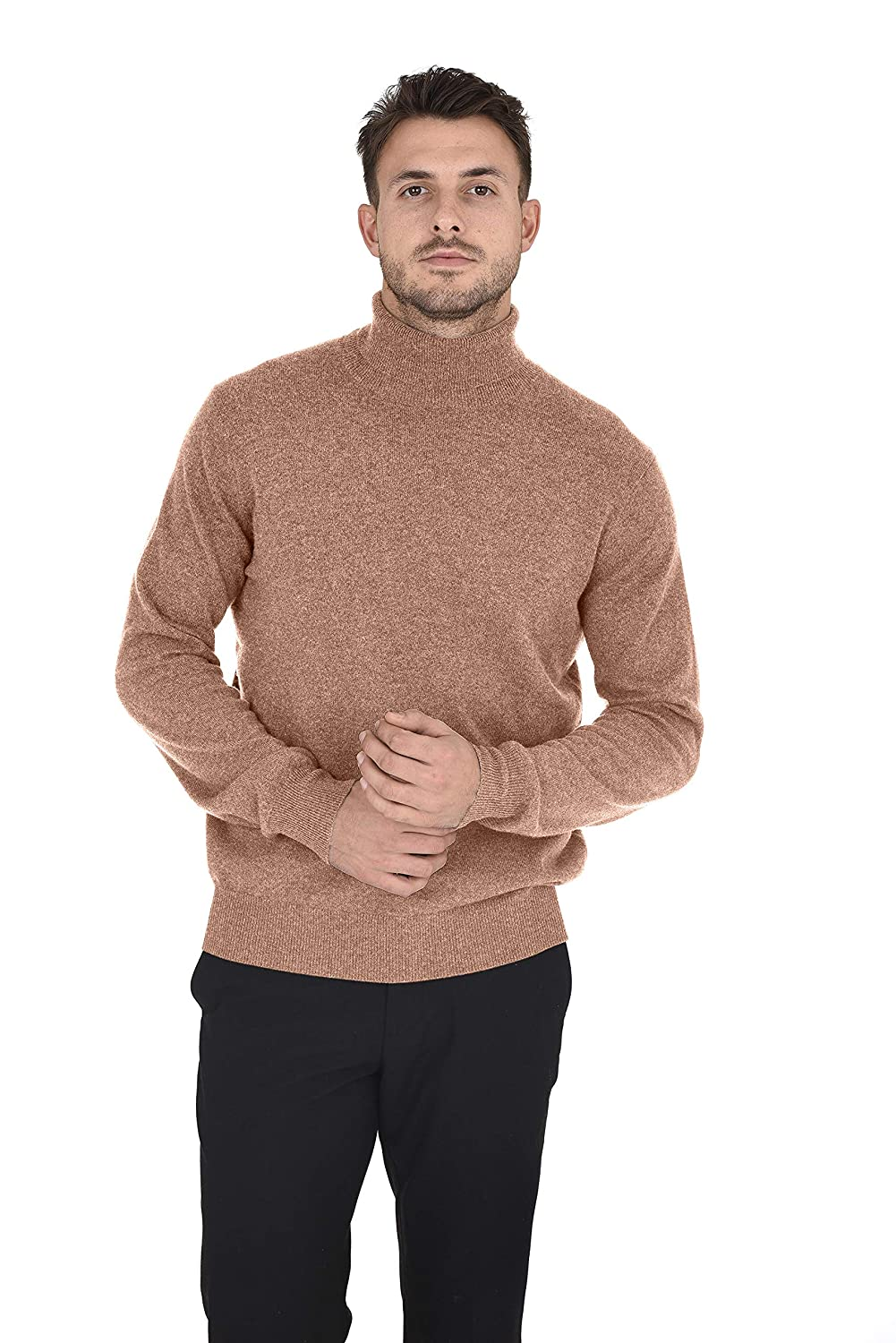 e92e6eece Amazon.com  Cashmeren Men s Wool Cashmere Classic Knit Soft Long Sleeve  Turtleneck Pullover Sweater  Clothing