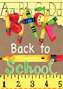 Toland Home Garden 1012195 Back to School Supplies 28 x 40 Inch Decorative, 28 x 40, Multicolor