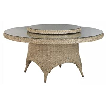 4Seasons outdoor victoria table ronde 170 cm avec plateau en verre ...