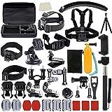 Ubeesize, kit di accessori per GoPro Hero 5/4/3/2/1,black, silver e SJ4000,SJ6000,videocamera, set di accessori per sport e outdoor, kit per Xiaomi Yi/Lightdow/Wimius/Dbpower