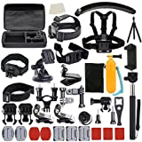 UBeesize Accessories Kit for GoPro Hero 5/4/3/2/1 Black Silver and SJ4000 SJ5000 SJ6000, Camcorder Accessories Set and Outdoor Sports Kit for Xiaomi Yi/Lightdow/WiMiUS/DBPOWER