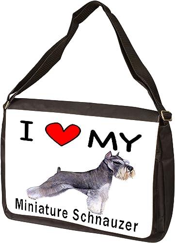 I Love My Miniature Schnauzer Laptop Bag – Shoulder Bag – Messenger Bag