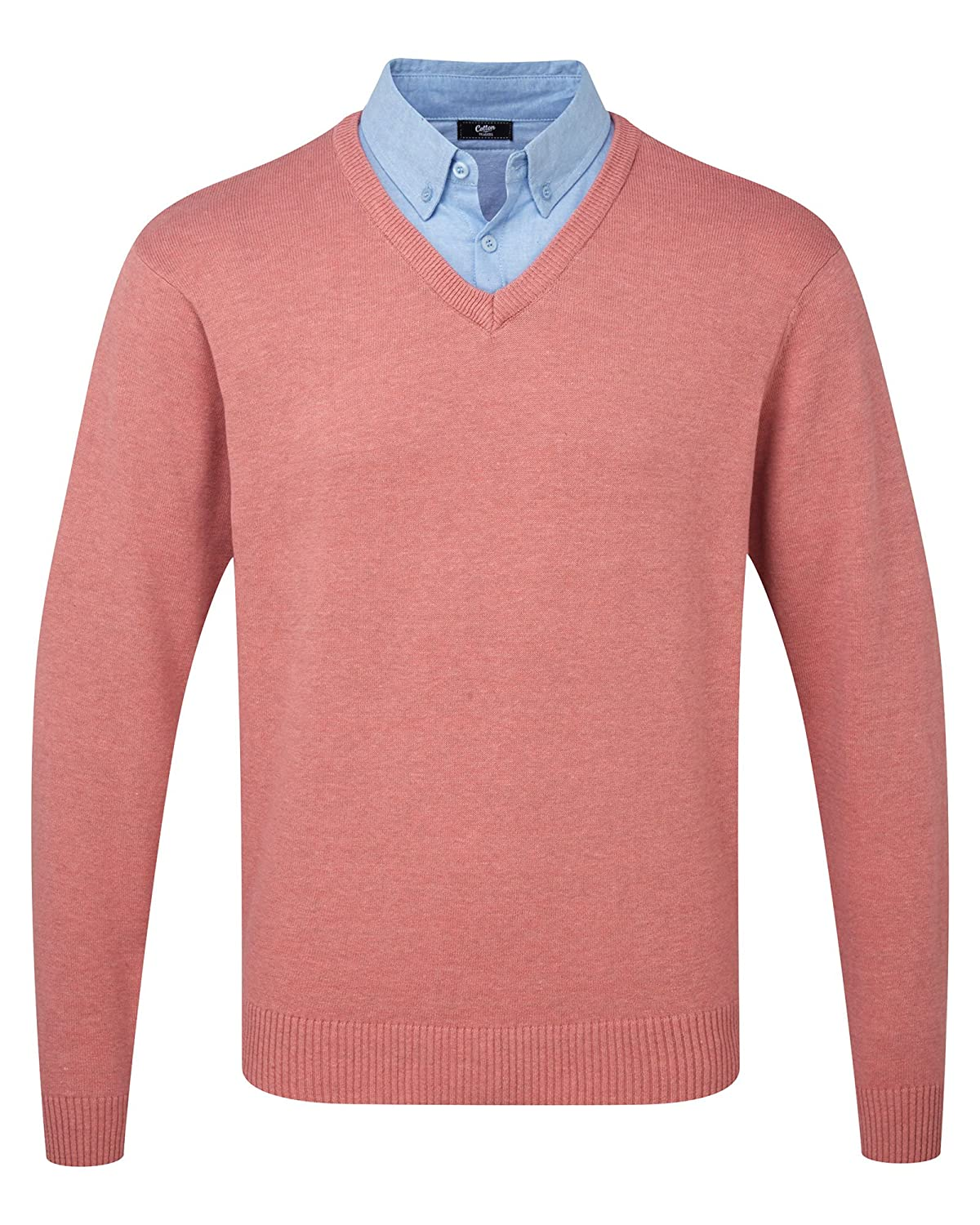 Cotton Traders Mens Casual Mock Shirt And V Neck Jumper Sweater Knitwear