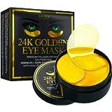 Under Eye Collagen Patches - 24K Gold Eye Mask Anti-Aging Hyaluronic Acid - Under Eye Mask for Reducing Dark Circles…