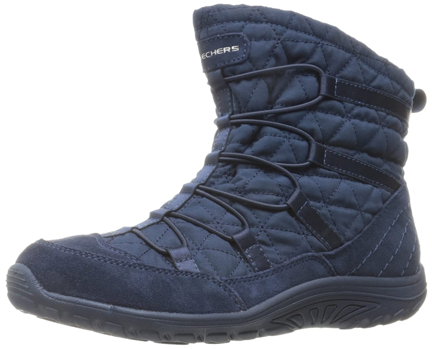 Skechers Womens Reggae Fest Steady Quilted Bungee Ankle Bootie  6 B(M) US|Navy