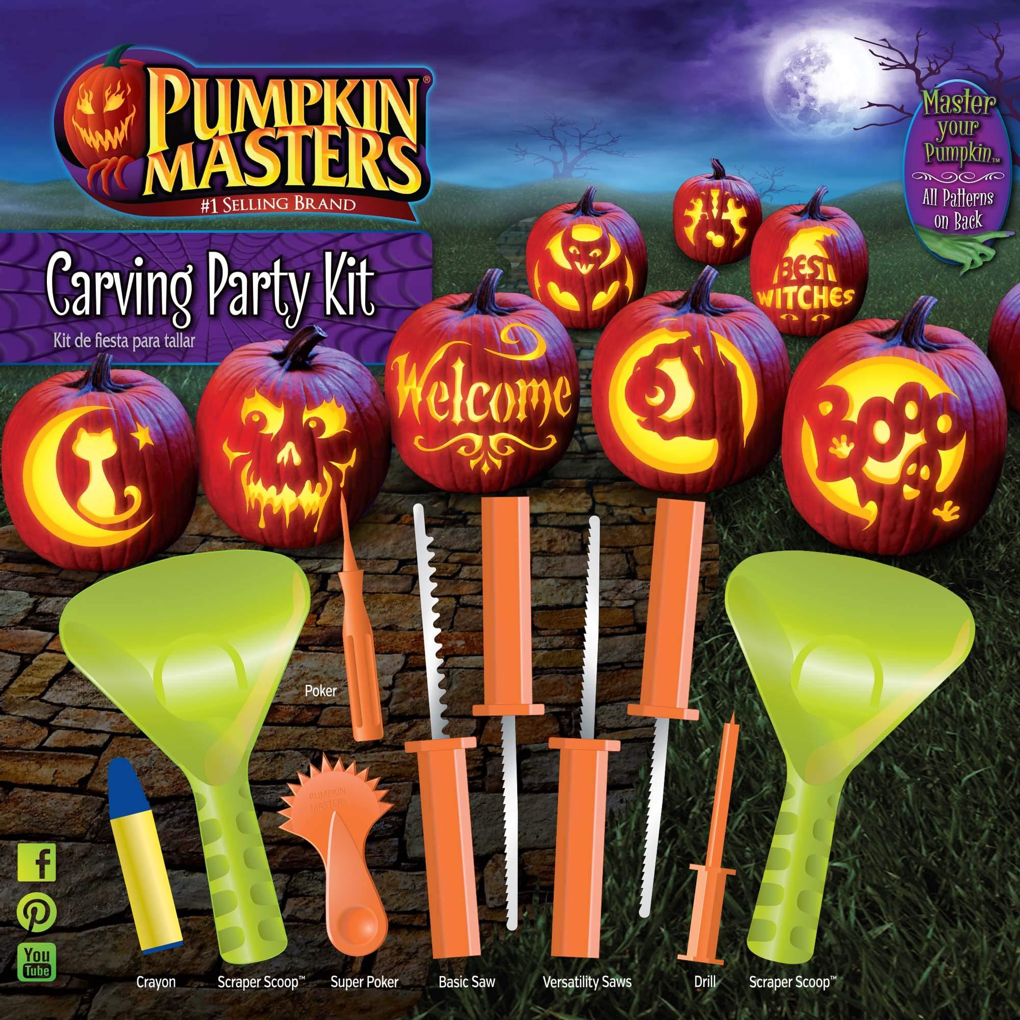Pumpkin Masters Halloween Pumpkin Party Carving kit - 12 patterns by Pumpkin Masters