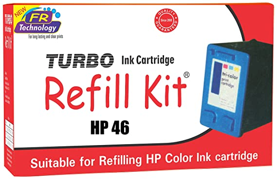 Turbo refill kit for hp 46 multi tri color ink cartridge Ink Refills   Kits