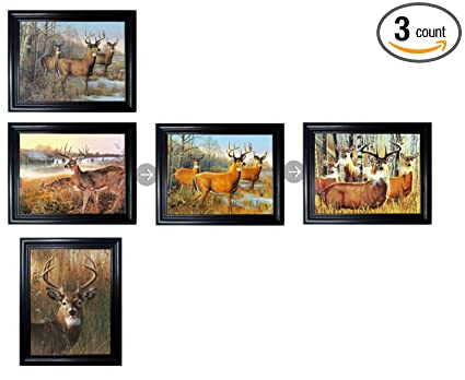 Amazon.com: HUNTING BUNDLE FRAMED Holographic Wall Art-MULTIPLE ...