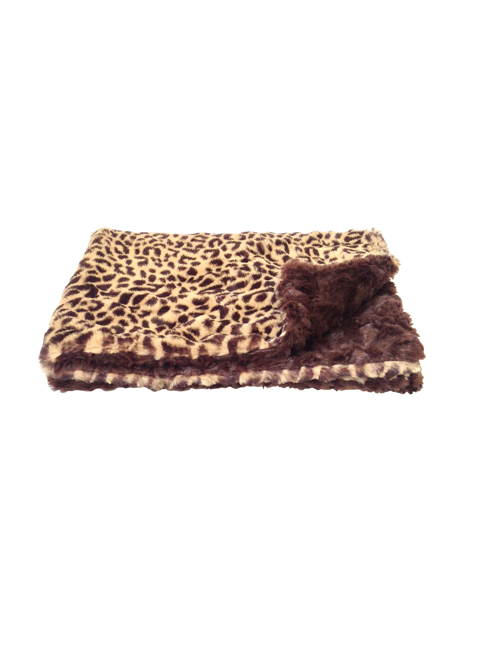 The Dog Squad 20 by 30-Inch Minkie Binkie Blanket, Small, Cheetah