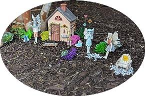 Limited Edition Gardening Friends Fairy Garden Starter Kit | 16 Pieces