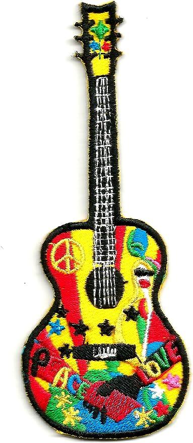 Colorido parche para los amantes de la música de la guitarra de la ...