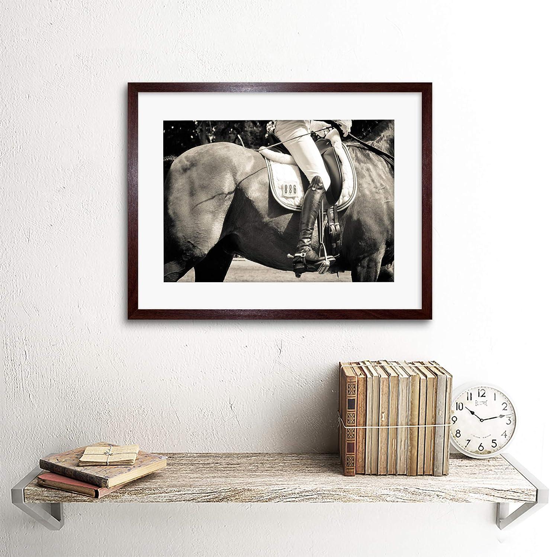 PHOTO SPORT EQUESTRIAN HORSE RIDER DETAIL JOCKEY FRAMED PRINT F12X5259