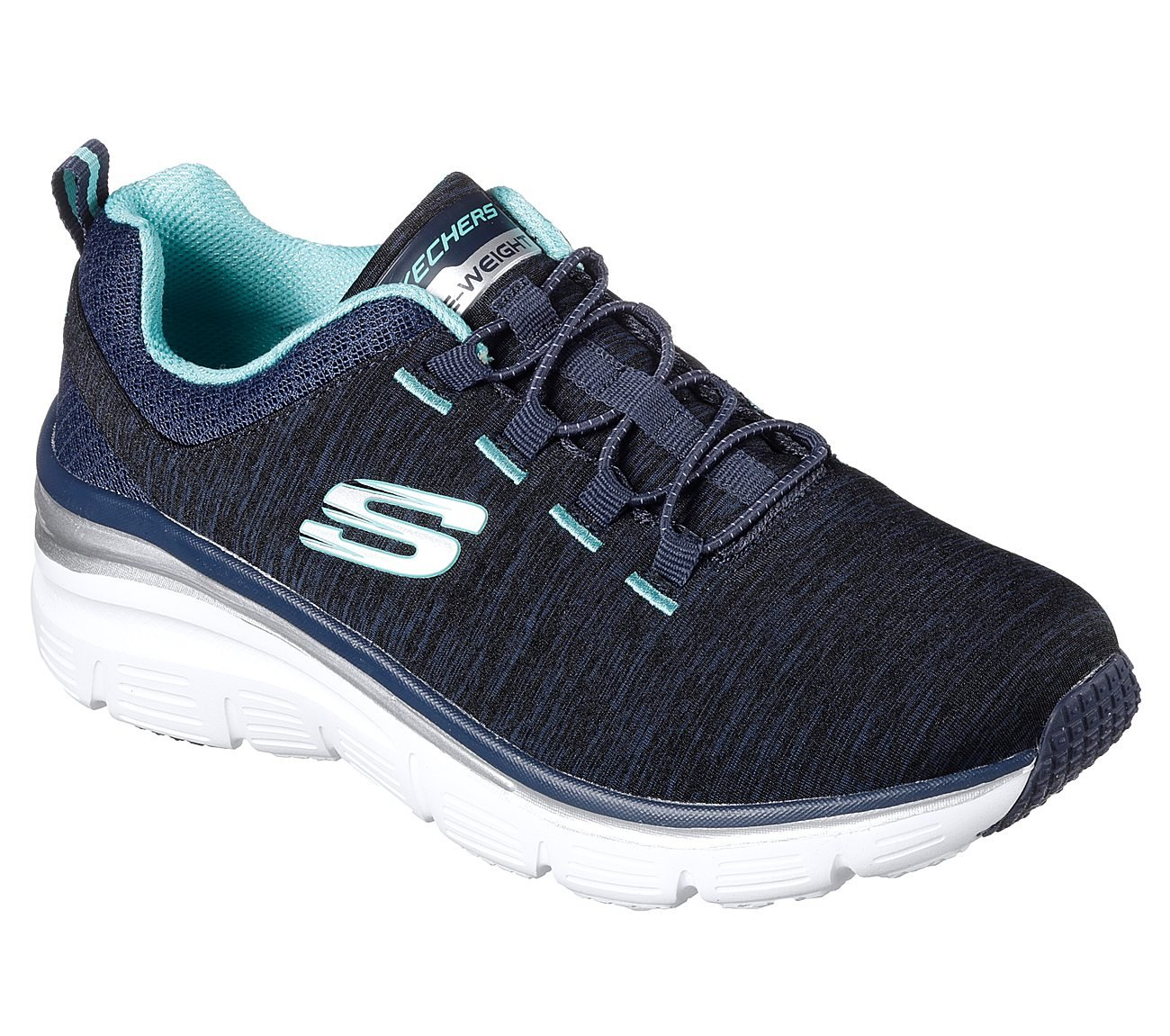 Skechers Fashion Fit up A Level Womens Slip On Sneakers Navy/Turquoise 10 by Skechers