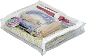 "Oreh Homewares Heavy Duty Vinyl Zippered See-Through Storage Bags (Clear) for Jewelry, Shirts, Cosmetics, Arts & Crafts Supplies and Much More! (9"" x 11"" x 2"") 0.9 Gallon 8-Pack"