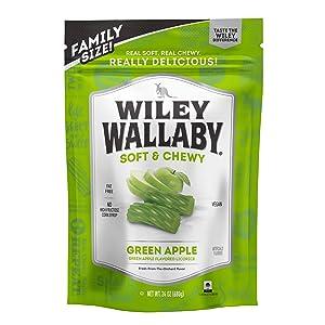 Wiley Wallaby Australian Style Gourmet Green Apple Licorice, 24 Ounce Resealable Bag