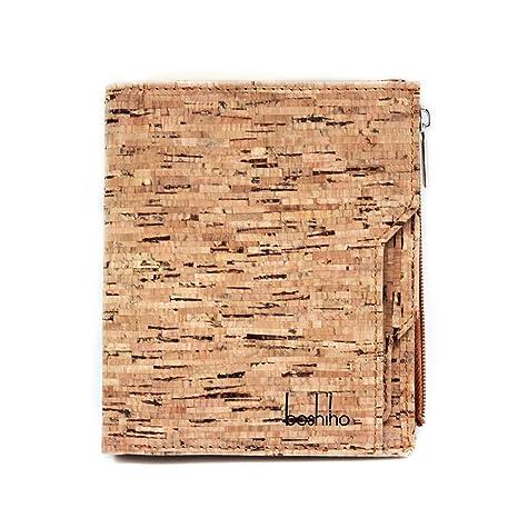 Boshiho Cartera de Corcho para Hombre - diseño Delgado Cartera de identificación de crédito Cartera de